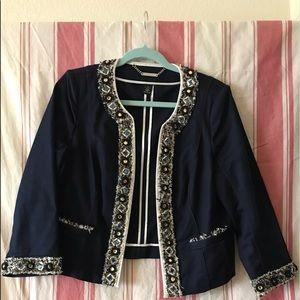 Jeweled cropped jacket. Beautiful color.